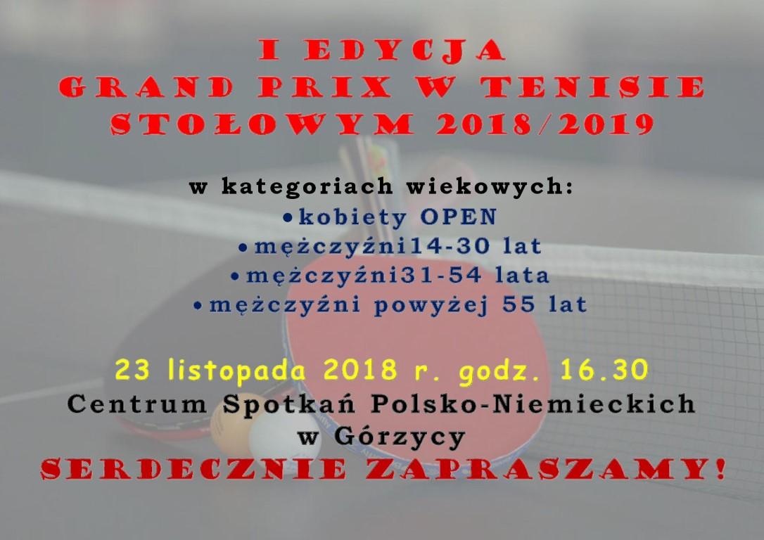 You are browsing images from the article: Serdecznie zapraszamy do udzia³u w I edycji GRAND PRIX w tenisie sto³owym 2018/2019!