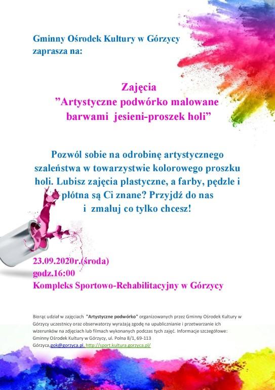 You are browsing images from the article: 'Artystyczne podwórko malowane barwami jesieni-proszek holi'