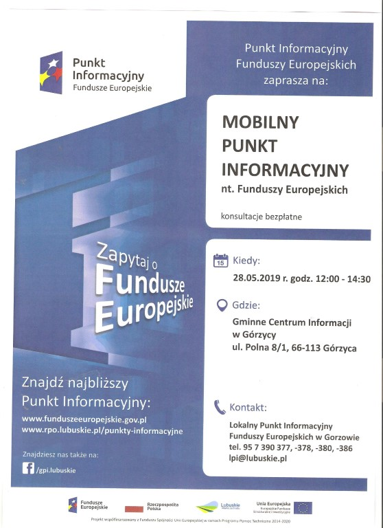 You are browsing images from the article: MOBILNY PUNKT INFORMACYJNY W GÓRZYCY
