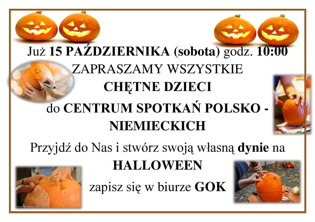 You are browsing images from the article: Przyjd� do nas i stw�rz swoj� 'halloweenow� dyni�'