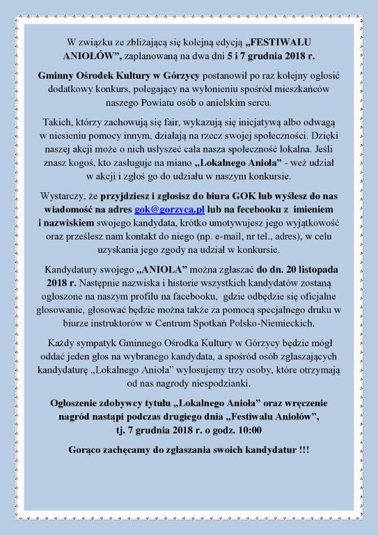 You are browsing images from the article:  Drodzy Pañstwo, wracamy do Konkursu wy³aniaj±cego Lokalnego Anio³a!