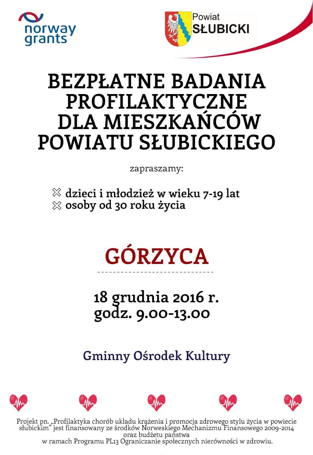 You are browsing images from the article: Bezp³atne Badania Profilaktyczne w Górzycy!