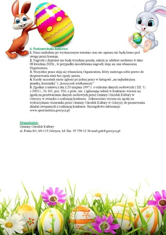 You are browsing images from the article: Konkurs Wielkanocny ' na naj³adniejsz± pisankê, kraszankê i koszyczek wielkanocny'