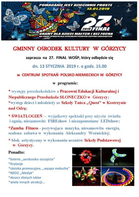 You are browsing images from the article: Serdecznie zapraszamy na 27 Fina³ Wielkiej Orkiestry ¦wi±tecznej Pomocy!